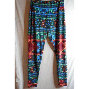 Lularoe leggings Aztec geometric multicolored